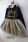 兒童洋裝 3兒童秋冬裝長袖連衣裙4加絨加厚寶寶洋氣公主裙7歲 快速出貨