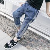 男童牛仔褲休閒薄款長褲