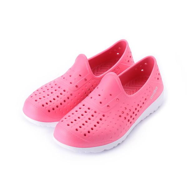 【ARRIBA 輕量防水洞洞鞋 桃白 62-473 女鞋 鞋全家福】