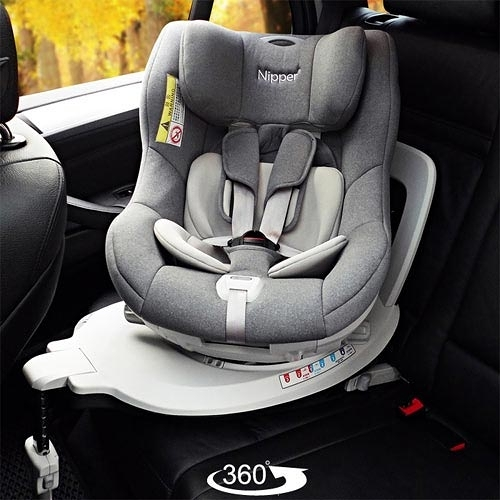 【奇買親子購物網】Nipper First Class 360度 ISOFIX 兒童汽車安全座椅(鋼琴黑/玫瑰紅/時尚灰)