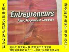 二手書博民逛書店Entrepreneurs罕見Talent,Temperament,Technique(企業家才能、氣質、技術)英
