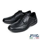 【IMAC】義大利牛皮輕量抗震綁帶休閒氣墊鞋  黑色(101190-BL)