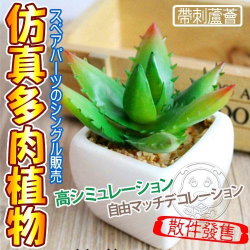 【培菓平價寵物網】仿真多肉植物帶刺蘆薈