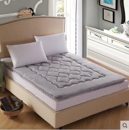 珊瑚絨榻榻米床墊加厚1.5m1.8米保暖雙人床褥子單人墊被【灰色(床墊)】1.8m(6英尺)床