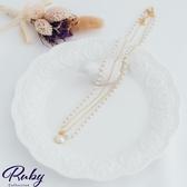 項鍊 韓國直送‧氣質珍珠雙層項鍊-Ruby s 露比午茶