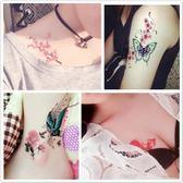 紋身貼防水女持久韓國仿真女孩逼真小清新可愛彼岸花性感鎖骨