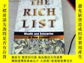二手書博民逛書店THE罕見RICH LIST wealth and enterp