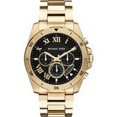 Michael Kors MK 雅爵羅馬計時錶-黑x金/44mm MK8481