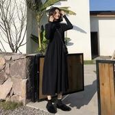 特惠大尺碼長袖洋裝針織黑色連身裙子新款潮秋冬裝毛衣內搭打底大碼女裝胖mm洋氣 交換禮物