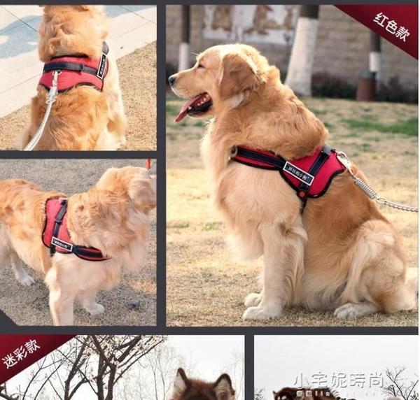 狗狗牽引繩胸背帶金毛狗中型犬狗錬子大型犬狗繩項圈寵物用品k8『艾莎』