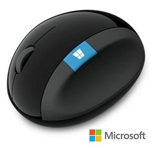 【綠蔭-免運】微軟 Sculpt人體工學滑鼠 - 黑 盒裝 (L6V-00006)
