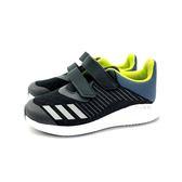 大童款 ADIDAS CQ0000 魔鬼氈 輕量透氣慢跑鞋《7+1童鞋》7292 黑色