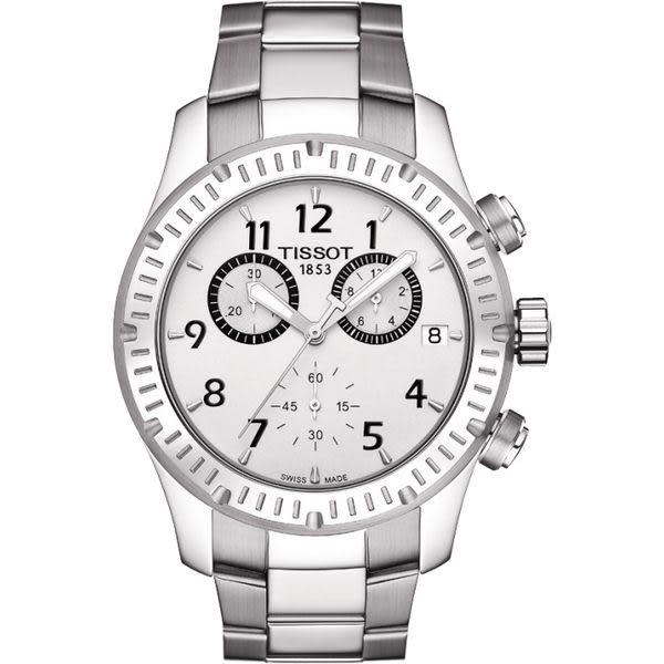 TISSOT V8 運動風三眼計時腕錶T0394171103700