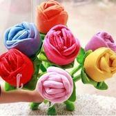 毛絨玩具 - 玫瑰花毛絨玩具仿真花卡通花束手捧花窗簾花【韓衣舍】