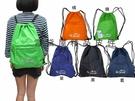 ~雪黛屋~EYE束口型後背包可放A4資夾MIT製耐承重量拉鍊外袋防水尼龍布郊遊踏青隨身物品包HEYE092