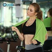 Coolcore冷感運動毛巾速干吸汗跑步健身房便攜擦汗巾降溫冰巾男女