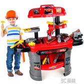 兒童修理工具箱玩具男寶寶仿真過家家套裝賽車總動員維修台3-6歲 3C優購igo