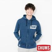 CHUMS 日本 男 LOGO 連帽外套 Indigo丹寧 CH001098N030