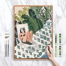 數字油畫抽象減壓客廳裝飾畫簡約自繪填充掛畫涂色手工diy油彩畫 ATF 夏季狂歡