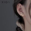 耳環 XIGN蝴蝶耳釘純銀氣質耳鉤小眾設計感耳環高級耳飾女2021年新款潮 晶彩 99免運