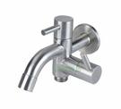 【麗室衛浴】國產304不鏽鋼雙出水長栓 LS-4122 給水龍頭適合陽台洗衣間給水