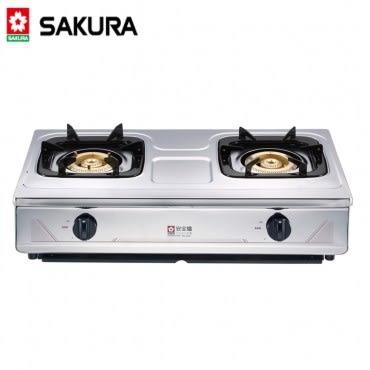 【櫻花SAKURA】不鏽鋼傳統安全爐(G-632KS)-天然瓦斯