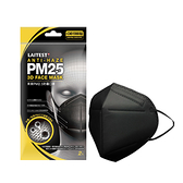 萊潔 PM2.5防霾口罩成人-曜石黑(2片入/袋裝)