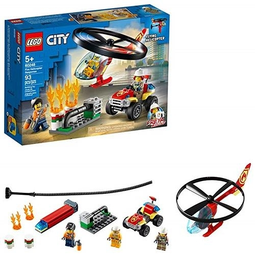 LEGO 樂高 City Fire Helicopter Response 60248 消防員玩具 (93 件)