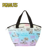 【日本正版】史努比 防潑水 保冷袋 手提袋 便當袋 Snoopy PEANUTS - 885291