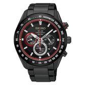 【分期0利率】SEIKO 精工錶 Criteria 黑紅 光動能 V175-0EE0R 全新原廠公司貨 SSC593P1