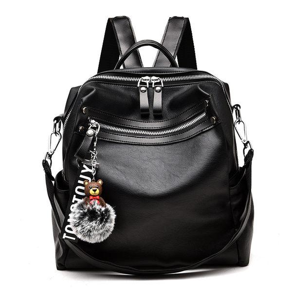 (現貨)簡約純色多功能大容量後背包 也可當側背包 tong88 /寶來小鋪