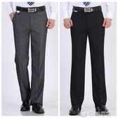 中年西褲男寬鬆夏季薄款商務休閒大碼高腰中老年正裝西裝褲爸爸裝 ciyo黛雅