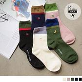 《ZB0994》韓國製親膚撞色水果長襪/中筒襪 OrangeBear