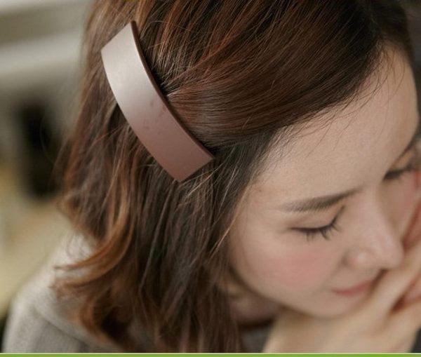 [協貿國際] 韓國髮飾糖果色甜美純色方形一字夾 (10個價)