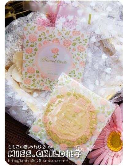 95入 古典玫瑰園 餅乾袋 西點袋 手工皂袋D034
