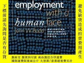 二手書博民逛書店Employment罕見With A Human FaceY256260 John W. Budd Corne