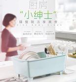 廚房放碗櫃塑料帶蓋瀝水架家用碗架裝碗筷收納箱收納盒碗碟置物架RM