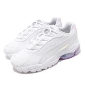 Puma 休閒鞋 Cell Stellar Glow Wns 白 銀 女爺 皮革鞋面 復古 氣墊設計 運動鞋 Dad Shoes【PUMP306】 37170701