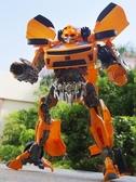 變形玩具金剛大黃蜂超大警車汽車變身機器人飛機模型兒童男孩