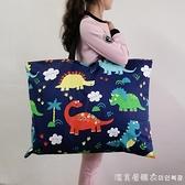 幼兒園被子包被褥袋棉布卡通印花帆布整理收納包手提包可水洗 NMS美眉新品