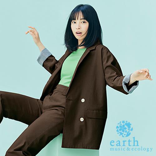 ❖ Summer ❖ 廣瀨鈴聯名款-棉麻混紡Oversize剪裁西裝外套 - earth music&ecology