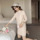 秋冬中長款毛衣女 連體毛衣 洋裝 半高領打底衫 針織衫連身裙 超值價
