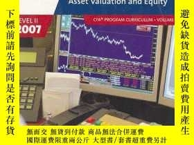 二手書博民逛書店Asset罕見Valuation And Equity (2007 Level Ii Cfa Program Cu