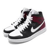 Nike Wmns Air Jordan 1 Mid Noble Red 黑 白 紅 女鞋 喬丹 1代 飛人 AJ1 運動鞋【PUMP306】 BQ6472-016