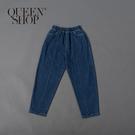 Queen Shop【04011394】親子系列 休閒百搭剪接牛仔長褲 1/2/3*現+預*
