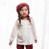 【愛的世界】純棉排釦繡花上衣/4~6歲-台灣製- ★秋冬上著 最後出清