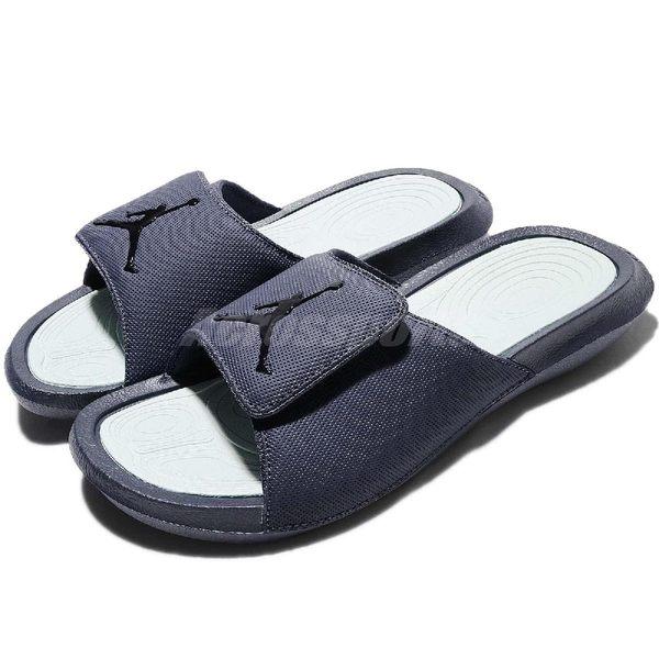 Nike 拖鞋 Jordan Hydro 6 深藍 淺綠 喬丹 運動拖鞋 男鞋 魔鬼氈 【PUMP306】 881473-408