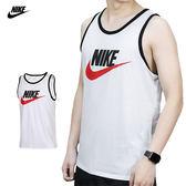 Nike Tank Ace Logo 男 白 紅 背心 短袖 籃球衣 運動 籃球 慢跑 運動 透氣 無袖 779235102