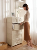 收納櫃抽屜式五斗櫃兒童衣櫃家用臥室夾縫衛生間置物架櫃子儲物櫃 韓國時尚週 LX