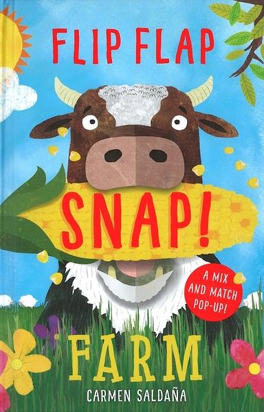 【趣味學拼音.動物混搭風】FLIP FLAP SNAP ! :FARM / 英文繪本《立體書》